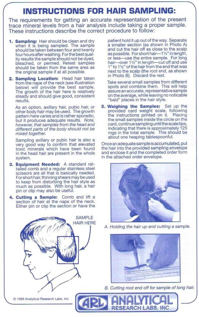 Hair Cutting Instructions